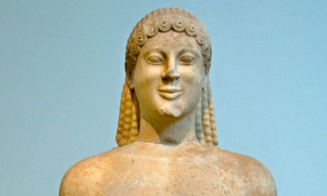 Qatar and Greece row – Kouros sanctuary of Ptoan Apollo Archaic 520 BC Greek Greece Museum