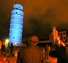 The Tower of Pisa is lighted in blue to mark the sixth annual World Autism Awareness Day