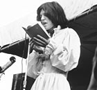 Rolling Stones frontman Mick Jagger reads the poem Adonais in Hyde Park 1969