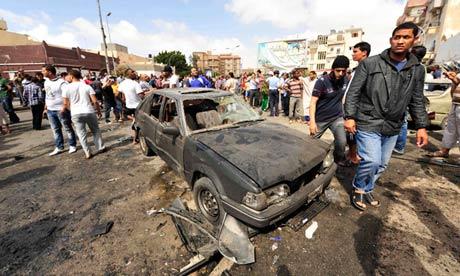 Benghazi car bomb explosion