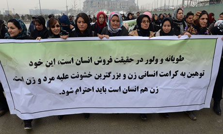 Afghan women protesters