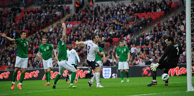 England v Republic: Lampard scores