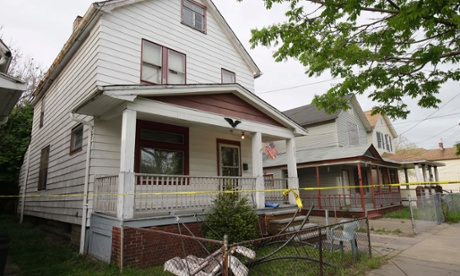 A house in Cleveland, Ohio, where three women , missing for more than a decade, escaped.