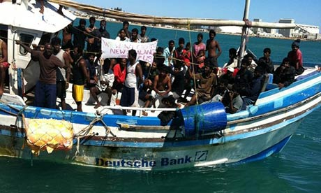 A boat carrying asylum seeker reaches Australia