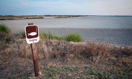 A completely dried-up marsh in south-central Kansas. Experts called the drought of 2012 the worst drought in the US in more than 50 years.