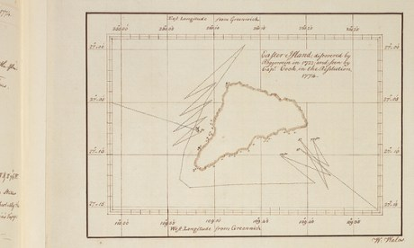 William Wales' map of Easter Island, from Cook's Second Voyage
