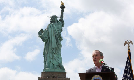 Michael Bloomberg Statue of Liberty