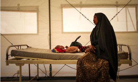 Somali woman in hospital