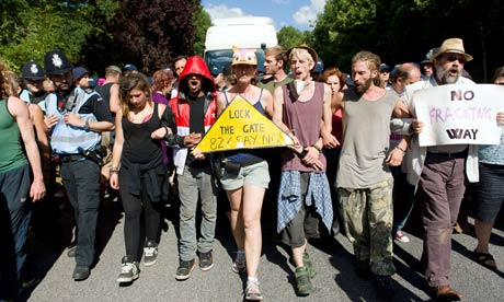 Climate and anti-fracking activists blocade site