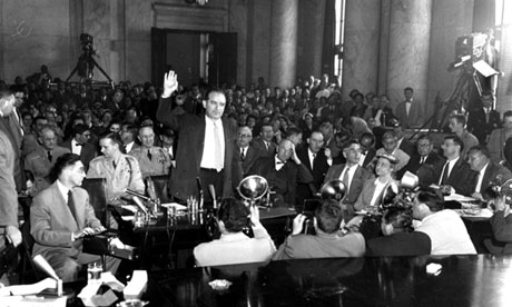 Joseph McCarthy at 1954 army hearings on communist infiltration