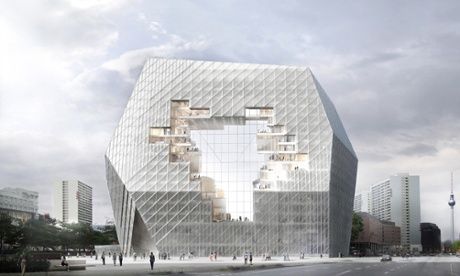 Collaborative cloud … Ole Scheeren's design for the Axel Springer HQ is designed to