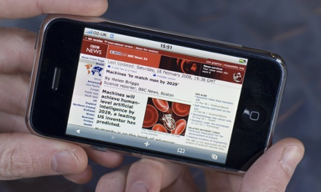 BBC News responds as mobile viewing figures overtake desktop for the first time. Photograph: Alex Segre/Rex Features