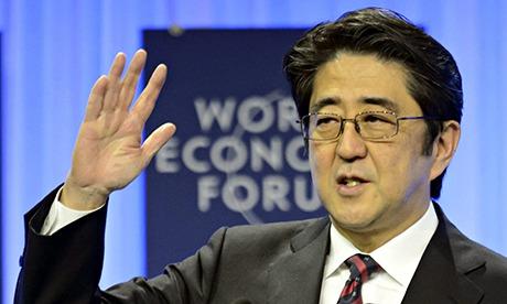 Shinzo Abe Davos