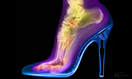 Photograph of a woman's foot in a stiletto