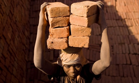 Blood bricks … Migrant labourers are forced to work in squalid conditions to fuel India's building boom.
