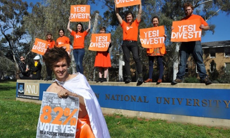 Australian National University (ANU) support fossil fuels divestment