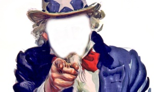 uncle sam without a face