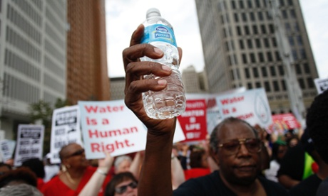 Detroit water protest