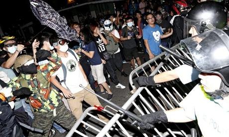 Hong Kong protest clash 2