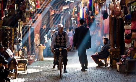 Souk, in Marrakesh, Morocco