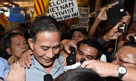 Freed Vietnamese dissident Nguyen Van Ha