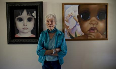 Margaret Keane em casa em Napa, Califórnia. Durante anos, ela pintou retratos de grandes olhos crianças para que seu marido levou o crédito. Fotografia: Robert Gumpert para o Guardian