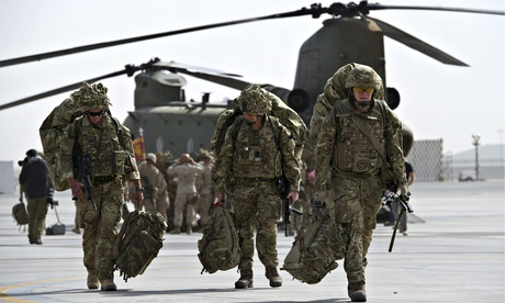 British military personnel depart Camp Bastion