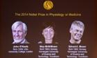 2014 Nobel Medicine Prize : John O'Keefe and Norwegian duo May-Britt Moser and Edvard I Moser