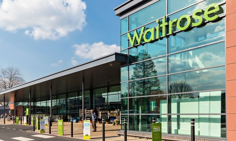 Waitrose supermarket in Exeter, Devon, England showing exterior facade and sign