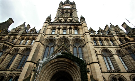 Exterior of Manchester's Victorian town hall