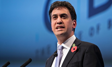 Ed Miliband addresses the CBI's annual conference in London. 'Given that the rightwing media simulta