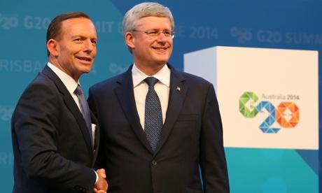 Stephen Harper and Tony Abbott