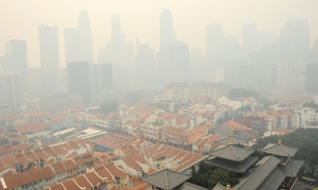 Singapore shrouded by a haze as carbon emissions soar.