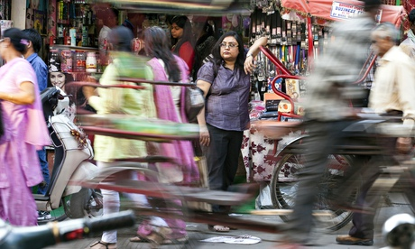 havna Paliwal, Delhi's most famous female private detective on the lookout. Photo Stuart Freedman