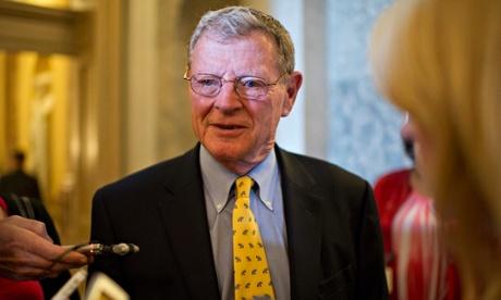 Climate skeptic nad Republican Senator Jim Inhofe