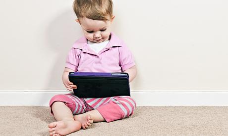 Toddler with iPad Mini