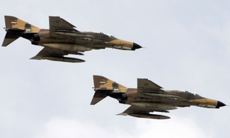 F-4E Phantom fighter jets flown by Iran in a file photograph.