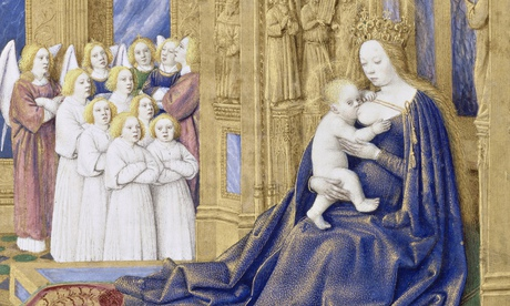 The Virgin and Child enthroned, by Jean Fouquet (1420?-1481) - the vicar might not have approved. Ph