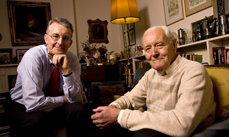 Tony Benn with his son Hilary in 2007