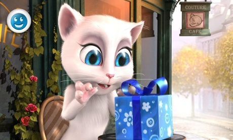 The Talking Angela app is used by children and adults alike.