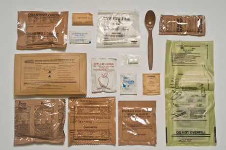 US Army ration pack.