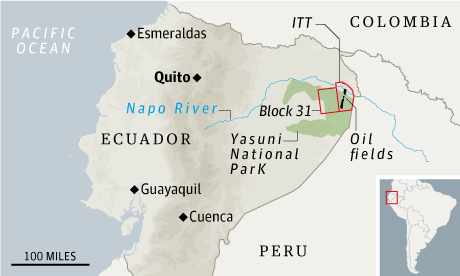 Equador oil map