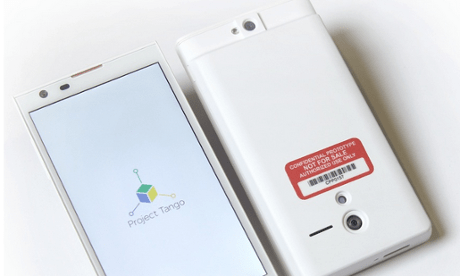 The Project Tango phone.
