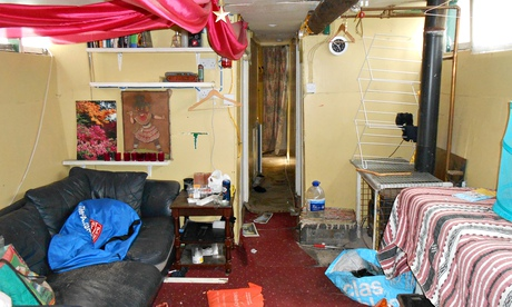 Living conditions on the barge