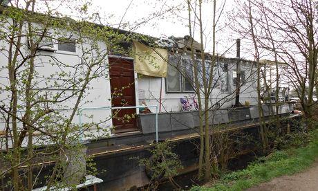 Houseboat slum