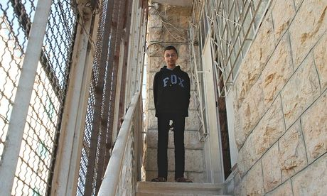 Waleed Abu Aishe, 13, at home in Hebron