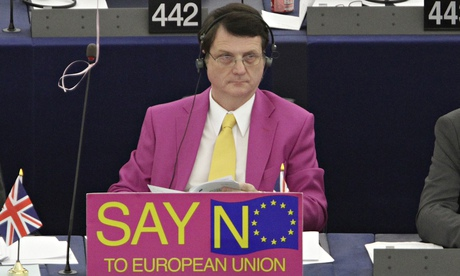 Gerard Batten cuts a distinctive figure at the European parliament