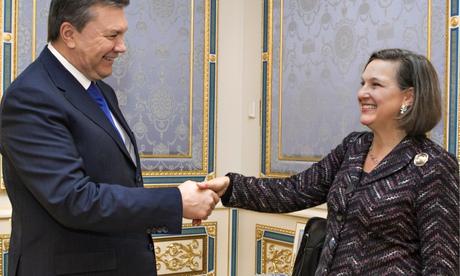 Victoria Nuland and Viktor Yanukovych