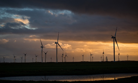 Wind turbines in Ockholm, north Germany, 4/12/13