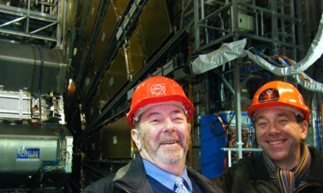 Keith and Jon Butterworth visit ATLAS at CERN